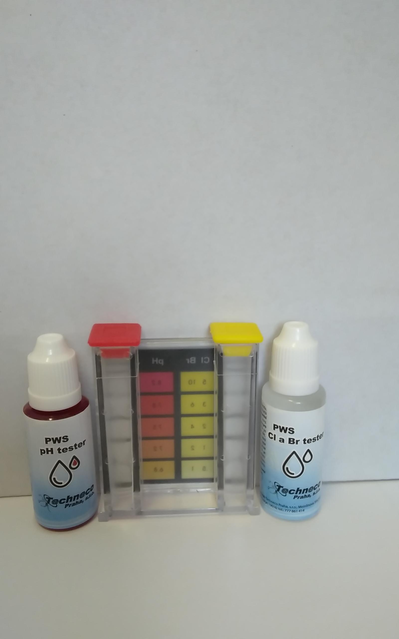 Kapkový tester s kolorimetrem pH a Cl