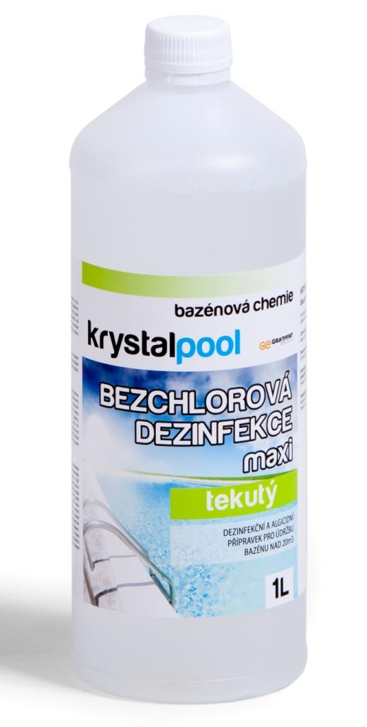 Fotografie Krystalpool Bezchlorová dezinfekce maxi 1 l